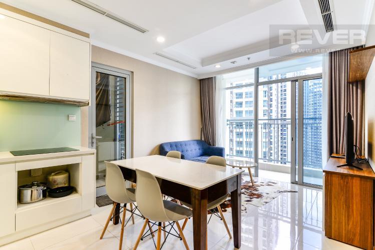 Phòng Khách Căn hộ Vinhomes Central Park 2 phòng ngủ tầng cao L1 nội thất đầy đủ