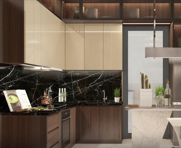 Nhà mẫu căn hộ Diamond Alnata, Tân Phú Căn hộ Diamond Alnata diện tích 90m2, thiết kế hiện đại