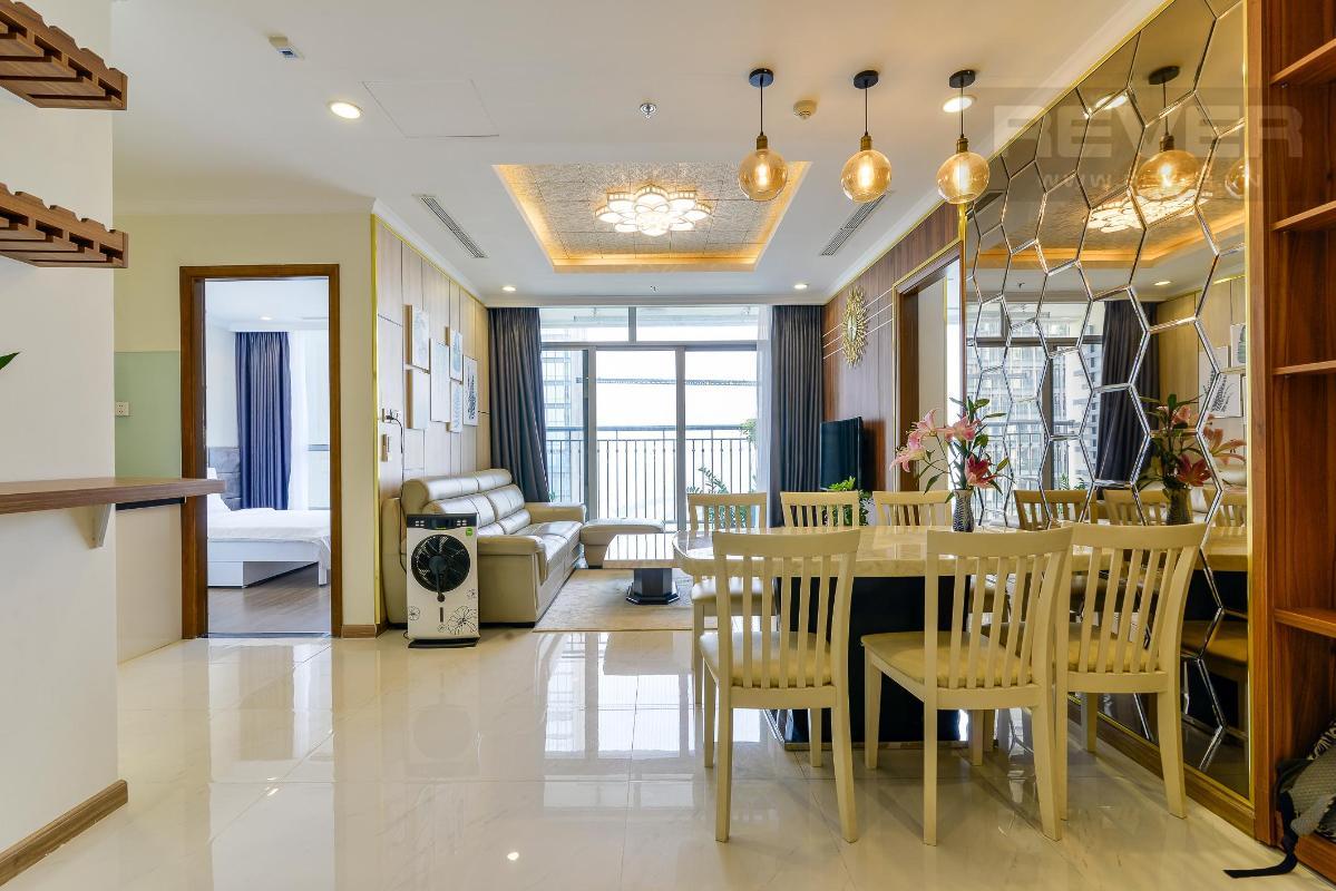 390cab1f509bb6c5ef8a Cho thuê căn hộ Vinhomes Central Park 3PN, tầng cao, đầy đủ nội thất, view sông thông thoáng