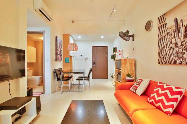 Phòng Khách Bán căn hộ Lexington Residence tầng cao, 1PN, đầy đủ nội thất