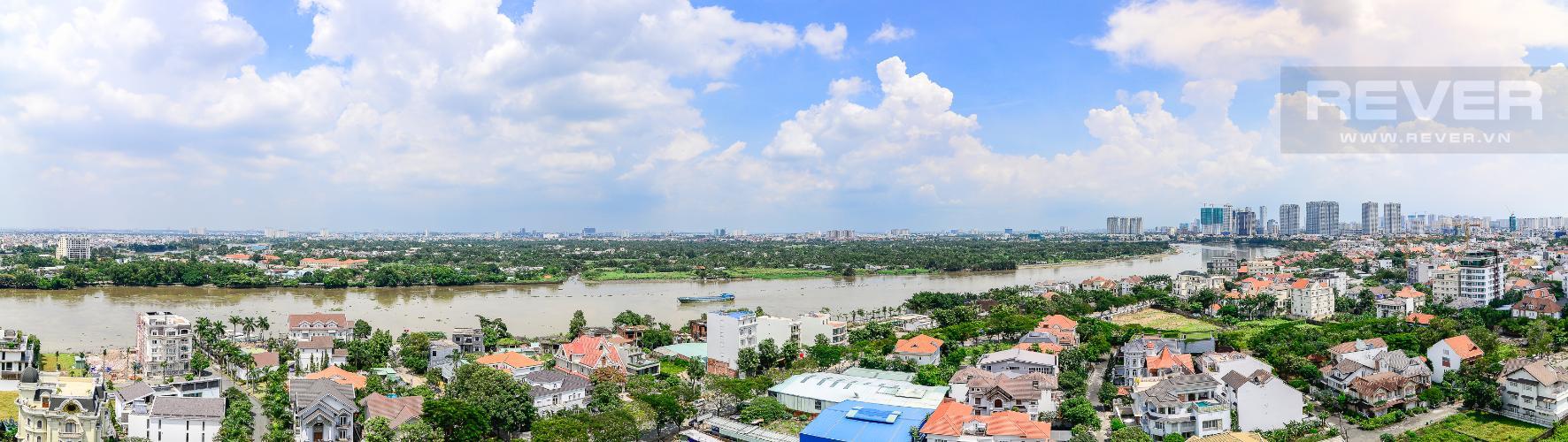 View Cho thuê căn hộ Xi Riverview Palace tầng cao, 3PN, đầy đủ nội thất, view sông
