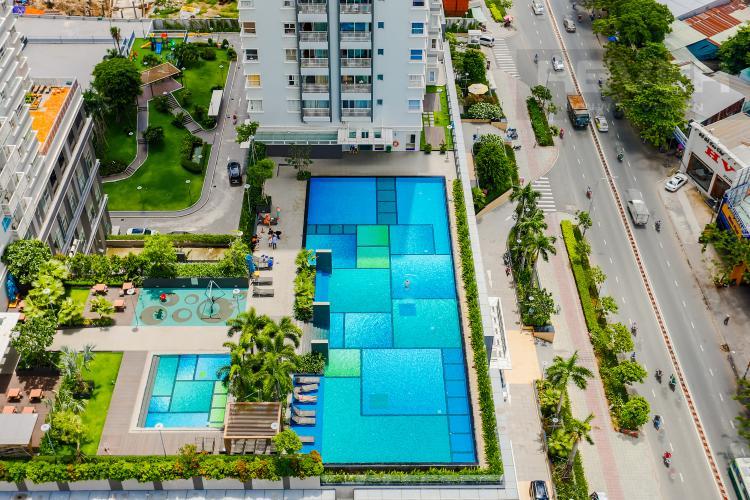 View Căn hộ Sunrise City 2 phòng ngủ tầng cao W4 view hồ bơi