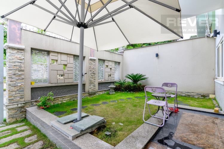 Sân Vườn Cho thuê biệt thự Khu dân cư An Phú, hướng Đông Nam, thiết kế sang trọng, đầy đủ nội thất