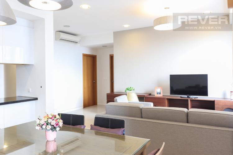 Phòng Khách Cho thuê căn hộ Sunrise City 2PN, tháp V6 khu South, diện tích 102m2, đầy đủ nội thất