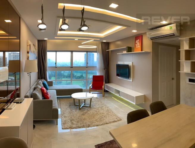 Phòng Khách Cho thuê căn hộ Happy Valley 3PN, diện tích 100m2, đầy đủ nội thất, view sông thoáng đãng