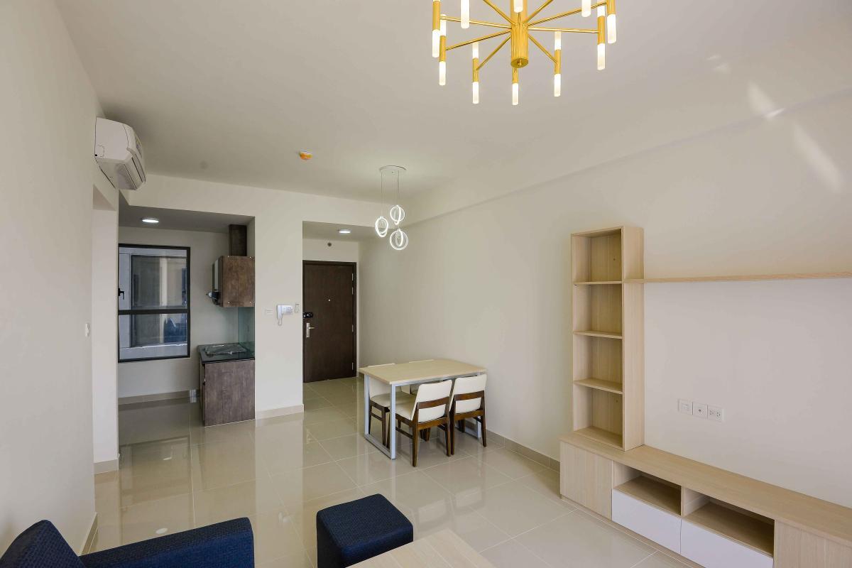 Phòng khách 2 Cho thuê căn hộ The Sun Avenue 3PN, tầng 18, block 5, là căn góc, đầy đủ nội thất, view thoáng