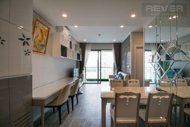 Phòng Khách Bán hoặc cho thuê căn hộ Diamond Island - Đảo Kim Cương 1PN, đầy đủ nội thất, view sông Sài Gòn