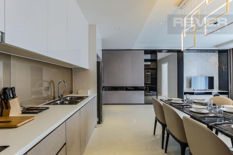 Phòng Bếp Căn hộ Masteri Millennium tầng cao 3PN đầy đủ nội thất
