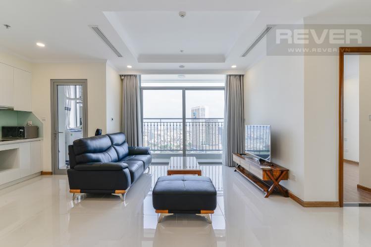 Phòng Khách Căn góc Vinhomes Central Park 3 phòng ngủ tầng cao L6 view sông