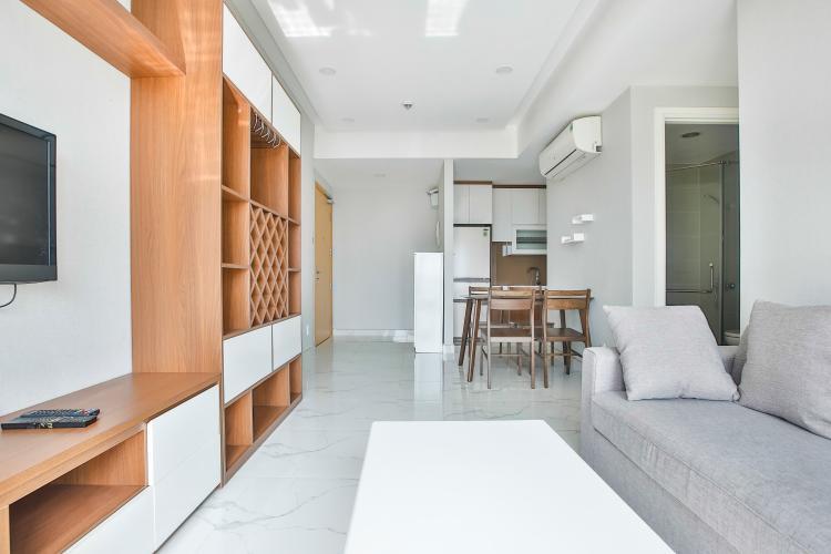 Không gian căn hộ Căn góc Masteri Thảo Điền tầng cao hướng Tây Bắc tháp T2