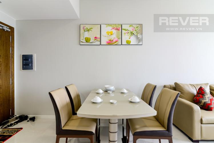 Phòng Ăn Cho thuê căn hộ Masteri An Phú 2PN, tầng cao, đầy đủ nội thất, view sông thoáng đãng