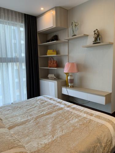 phòng ngủ căn hộ midtown Căn hộ Phú Mỹ Hưng Midtown nội thất cơ bản, view nội khu mat mẻ.