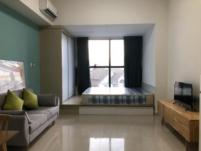 Phòng khách Căn hộ THE SUN AVENUE Cho thuê officetel The Sun Avenue tầng thấp, diện tích 40m2 - 1 phòng ngủ, đầy đủ nội thất