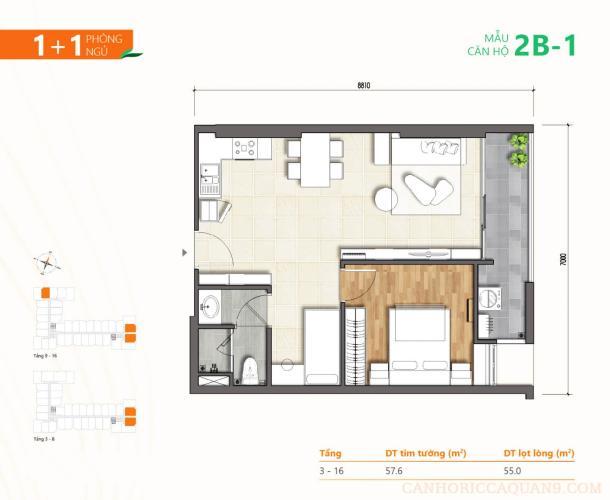 layout căn hộ Ricca  Căn hộ Block A tầng cao Ricca quận 9 nội thất cơ bản