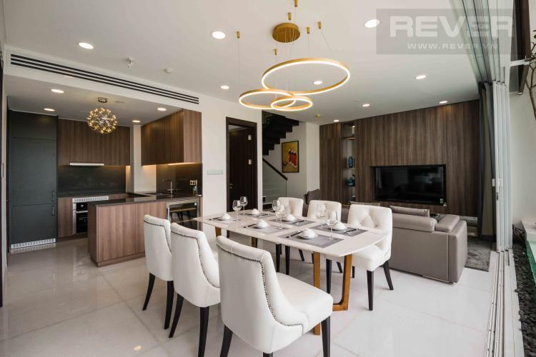 Phòng Khách Cho thuê căn hộ duplex Serenity Sky Villas 2PN, tầng trung, diện tích 123m2, đầy đủ nội thất
