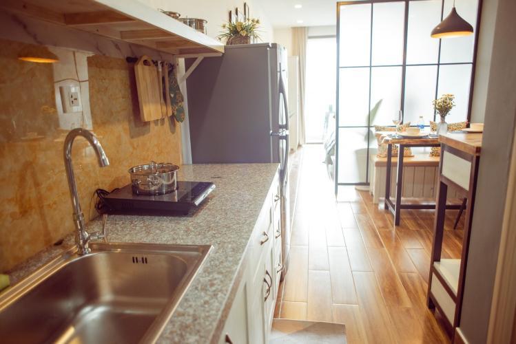 Khu vực bếp căn hộ OT Masteri Millennium Căn hộ Masteri Millennium đầy đủ nội thất, view sông và thành phố.