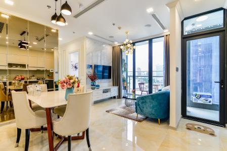 Căn hộ Vinhomes Golden River tầng thấp Tháp Aqua 1, 2 phòng ngủ, full nội thất