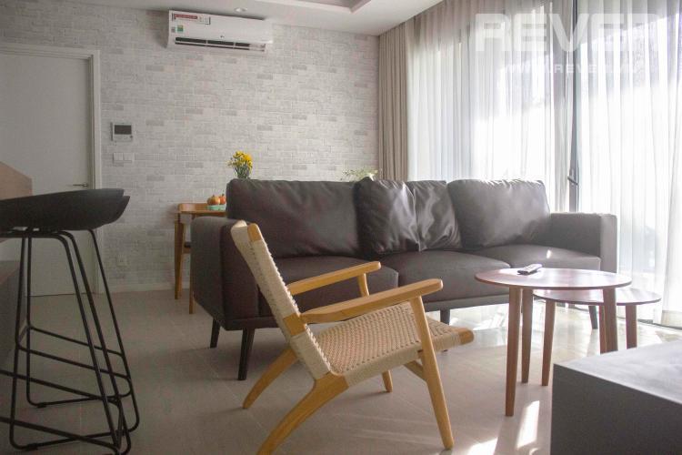 Phòng Khách Cho thuê căn hộ Diamond Island - Đảo Kim Cương 2PN, tầng cao, diện tích 83m2, đầy đủ nội thất