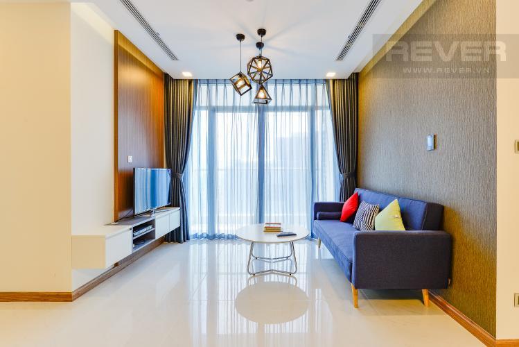phòng khách Căn hộ Vinhomes Central Park tầng cao Park 6 nội thất đầy đủ