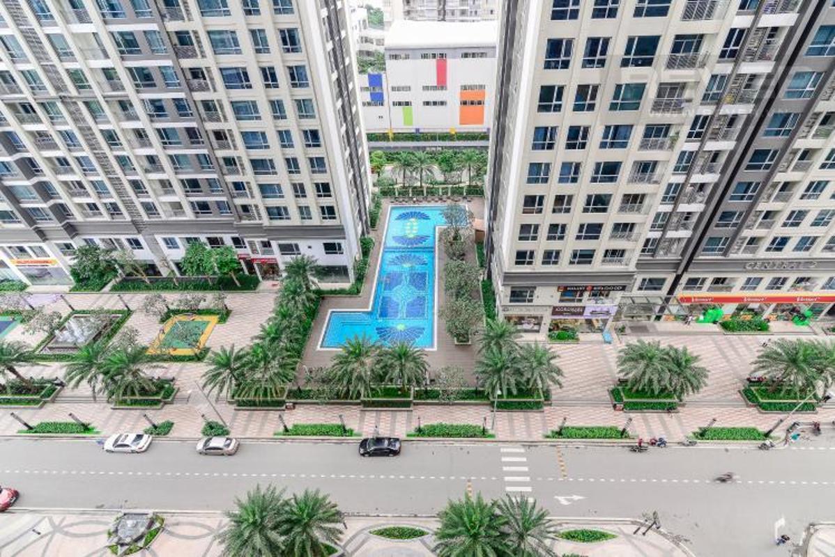 View master Bán căn hộ Vinhomes Central Park 2PN, diện tích 72m2, đầy đủ nội thất, view sông và công viên