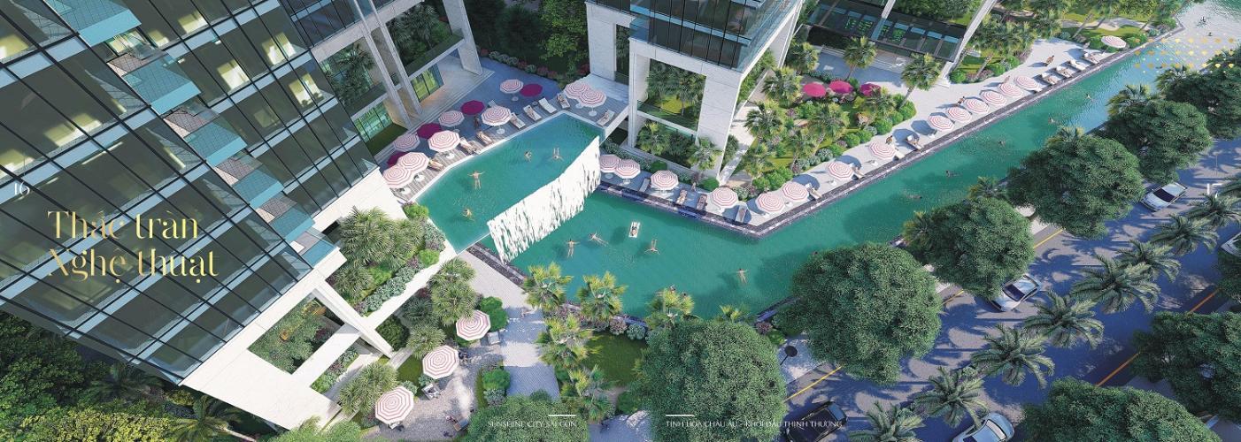 Phối cảnh căn hộ Sunshine City Sài Gòn Bán căn hộ Sunshine City Sài Gòn tầng cao hướng cửa Đông Bắc, diện tích  84.2m2, 2 phòng ngủ, thiết kế hiện đại.
