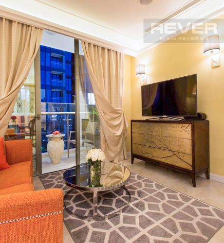 Phòng Khách Bán căn hộ Vinhomes Golden River 2PN, tháp The Aqua 3, đầy đủ nội thất, hướng Đông Nam, view mé sông