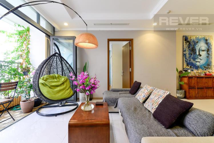 Phòng khách  Bán căn hộ Vinhomes Central Park 3PN, tầng cao, tháp Landmark 3, đầy đủ nội thất, view công viên và sông Sài Gòn