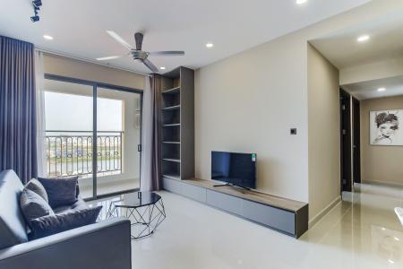Cho thuê căn hộ Saigon Royal 2PN, tầng cao, đầy đủ nội thất, view sông thoáng mát