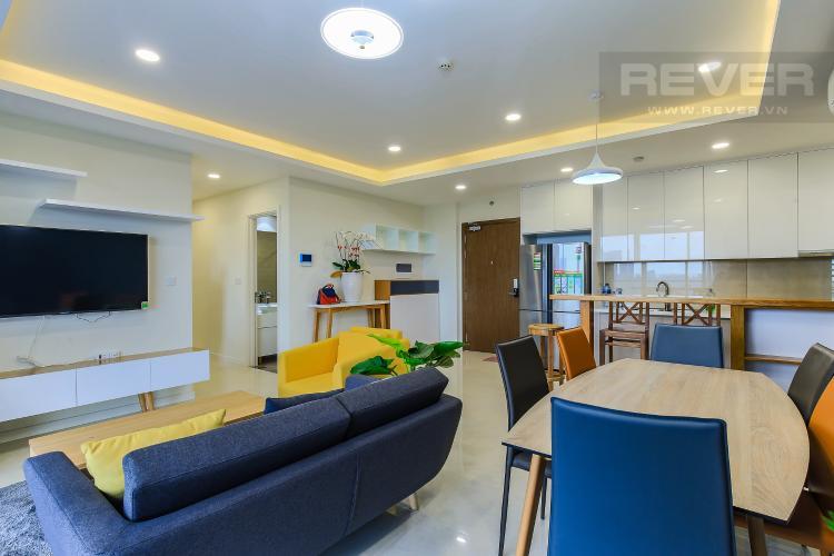 Phòng Khách Cho thuê căn hộ Masteri Millennium tầng trung 3PN đầy đủ nội thất, diện tích rộng rãi