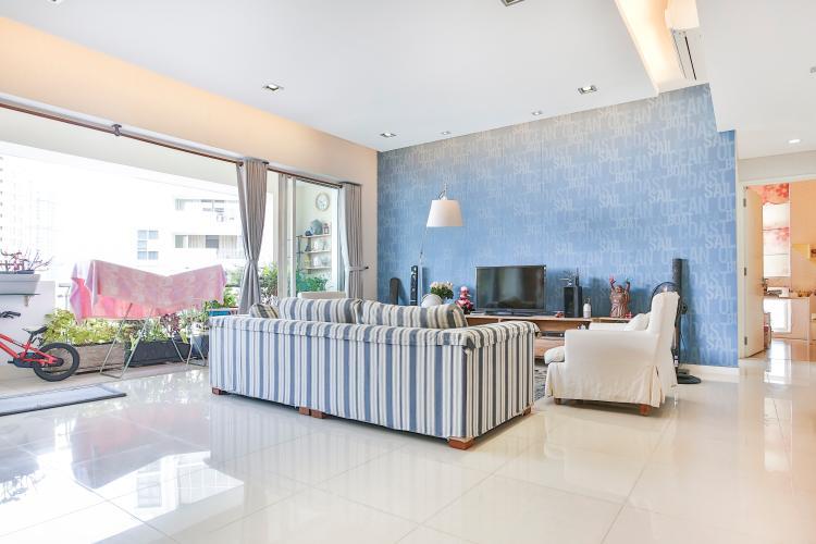 Phòng Khách Căn hộ The Estella Residence 3 phòng ngủ, tầng cao T1, nội thất đầy đủ