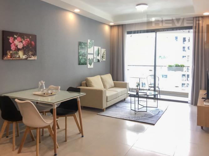Phòng Khách Bán căn hộ The Gold View 2PN, tầng thấp, đầy đủ nội thất, view kênh Bến Nghé và thành phố