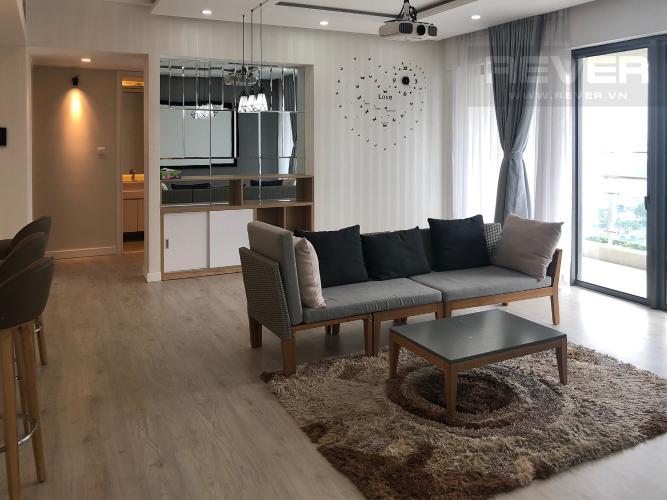 Phòng Khách Bán căn hộ Gateway Thảo Điền 4PN, tầng trung, đầy đủ nội thất, view Xa lộ Hà Nội và Landmark 81