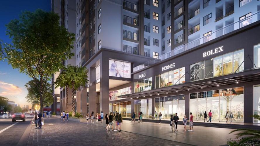 Mặt tiền Đường nội khu Shop House Q7 Sài Gòn Riverside Shophouse Q7 Saigon Riverside tầng thương mại, view nội khu.