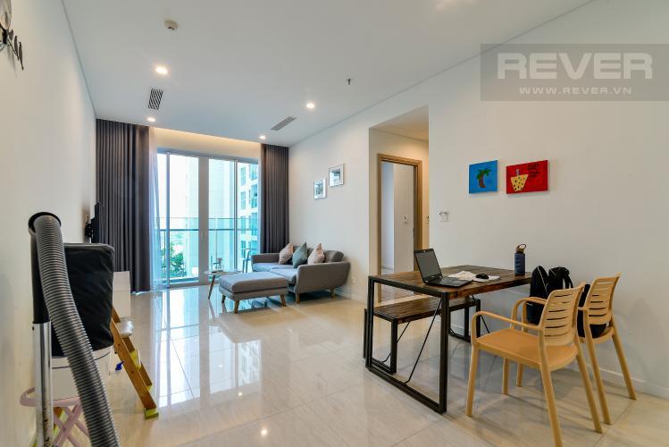 Phòng Khách Bán căn hộ Sadora Sala Đại Quang Minh 2PN, đầy đủ nội thất, view hồ bơi nội khu
