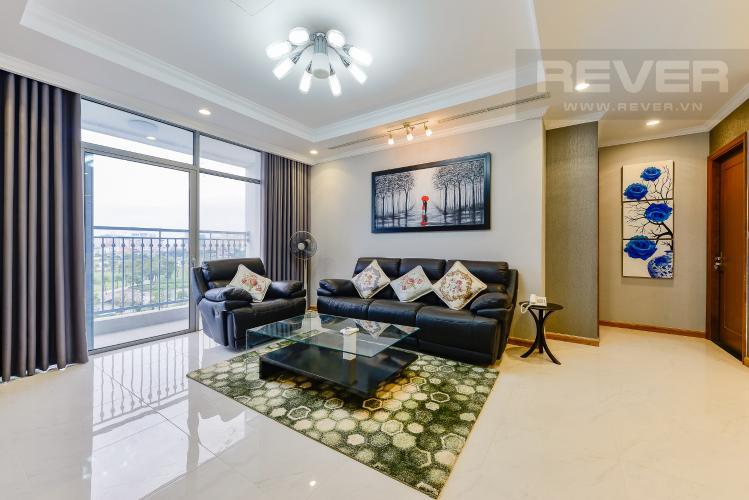 Phòng khách Căn góc Vinhomes Central Park 4 phòng ngủ tầng thấp Landmark 1
