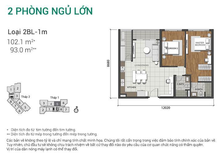 Căn hộ 2 phòng ngủ Căn hộ Estella Heights 2 phòng ngủ lớn tầng trung T1 full nội thất