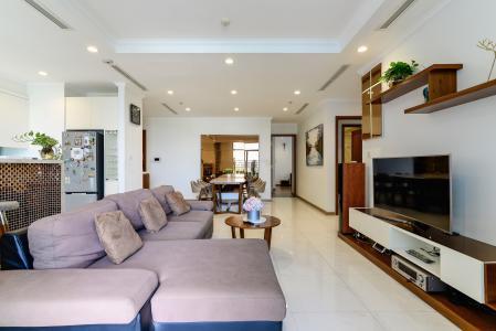 Bán căn hộ Vinhomes Central Park 4PN, tháp The Central 2, đầy đủ nội thất, view hồ bơi