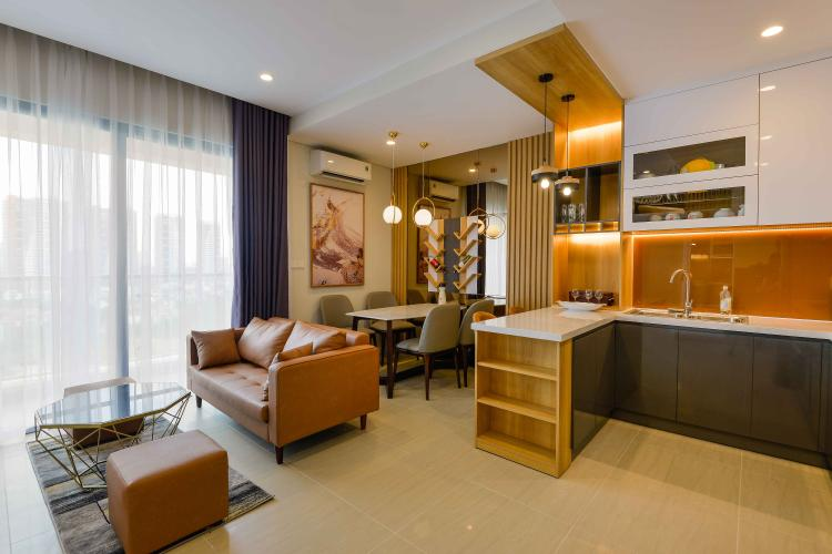 Phòng Khách Cho thuê căn hộ Diamond Island - Đảo Kim Cương 1PN, tháp Canary, đầy đủ nội thất, view sông thoáng mát