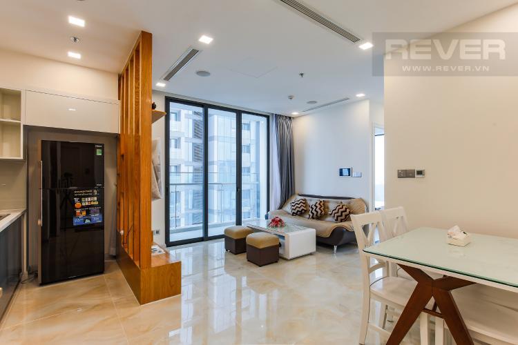 Phòng Khách Căn hộ Vinhomes Golden River tầng thấp 2 phòng ngủ tòa Aqua 3, nội thất đầy đủ