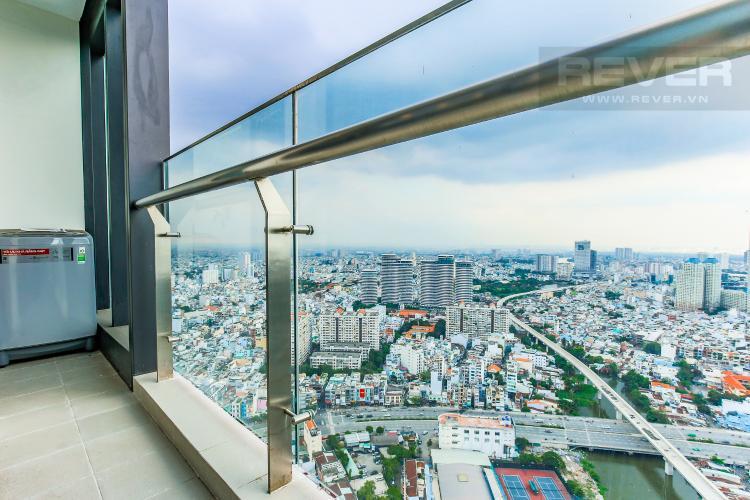 Balcony Officetel Vinhomes Golden River 2 phòng ngủ tầng cao A3 đầy đủ nội thất