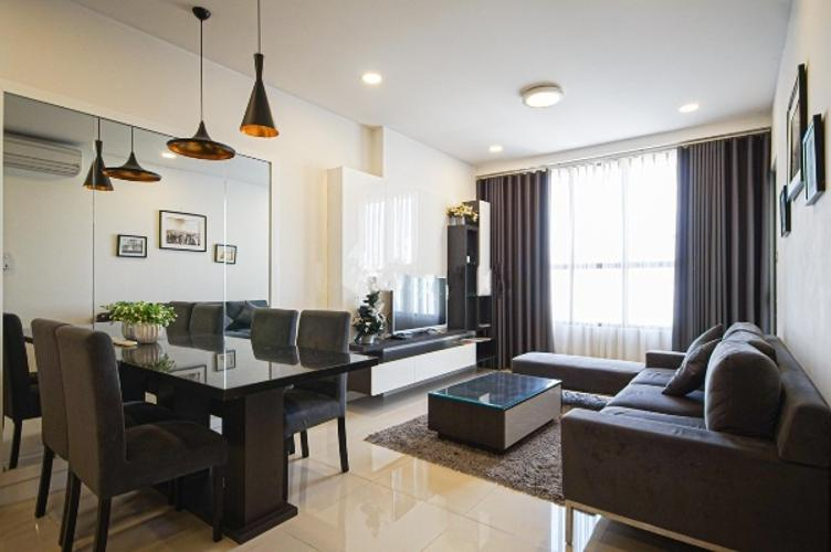 Phòng khách căn hộ Icon 56 Căn hộ Icon 56 nội thất đầy đủ 3 phòng ngủ, view thành phố.