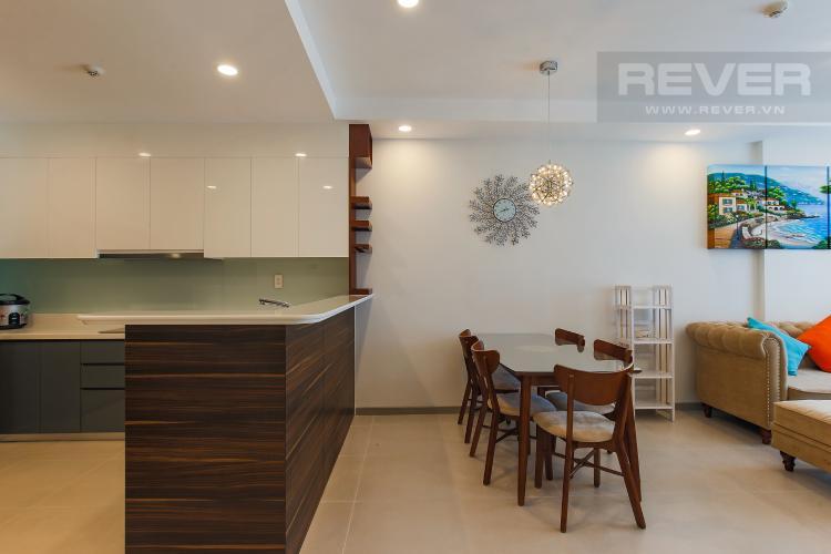Bàn Ăn Cho thuê căn hộ The Gold View tầng cao, 2PN, view đẹp, đầy đủ nội thất