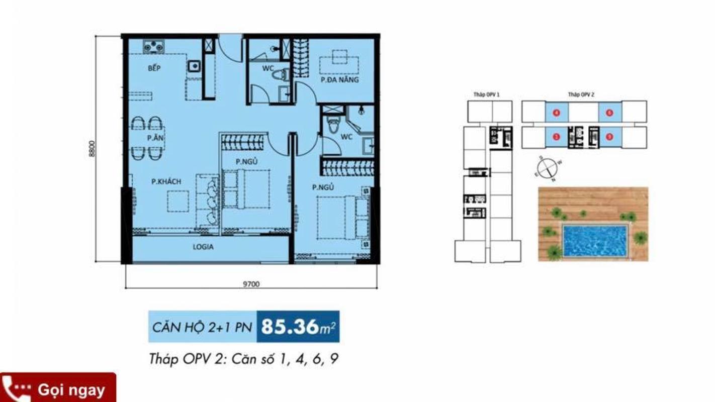 72543086_2726607547352173_9008067375005696000_n Bán căn hộ Orchard Parkview 3 phòng ngủ, tầng trung, diện tích 85m2, đầy đủ nội thất, gần sân bay