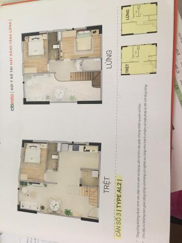 Mặt Bằng Bán căn hộ Citi Esto thuộc tầng trung, 3 phòng ngủ, diện tích 100.6m2, chưa bàn giao.