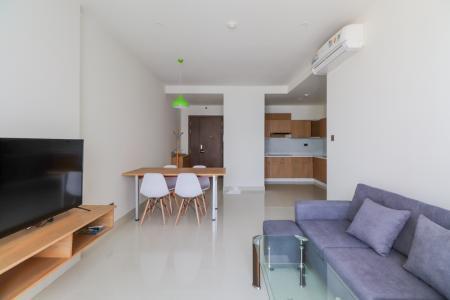 Cho thuê căn hộ Saigon Royal 2PN, diện tích 88m2, đầy đủ nội thất, view Bitexco và sông Sài Gòn