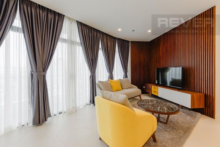 Phòng khách Căn hộ City Garden tầng cao 2PN đầy đủ nội thất