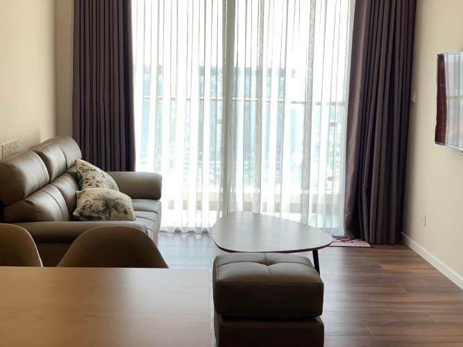 Phòng khách căn hộ Đảo Kim Cương Căn hộ Đảo Kim Cương tháp Hawaii, view thành phố ban công rộng rãi.
