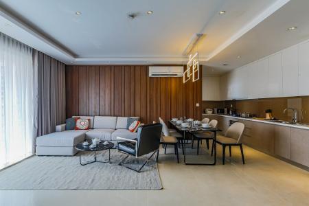 Căn hộ Masteri Millennium tầng cao 3PN đầy đủ nội thất
