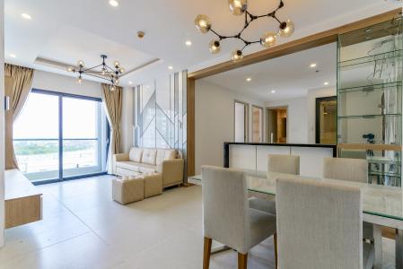 Cho thuê căn hộ New City Thủ Thiêm 3PN 2WC, nội thất cơ bản, view hướng nội khu