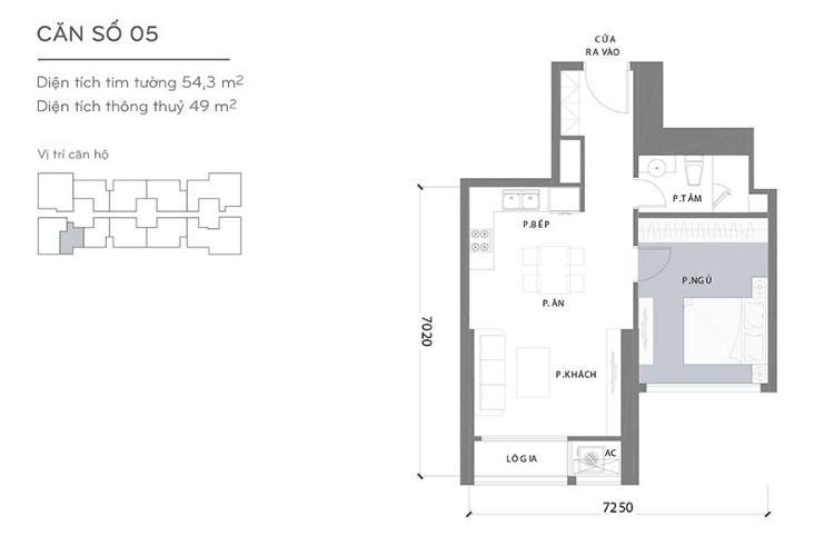 Căn hộ 1 phòng ngủ Căn hộ Vinhomes Central Park 1 phòng ngủ tầng cao Landmark 1